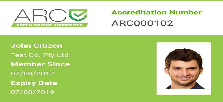 ARC green scheme slider