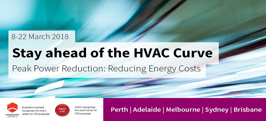 HVAC event slider