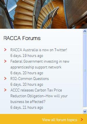 RACCA Forum