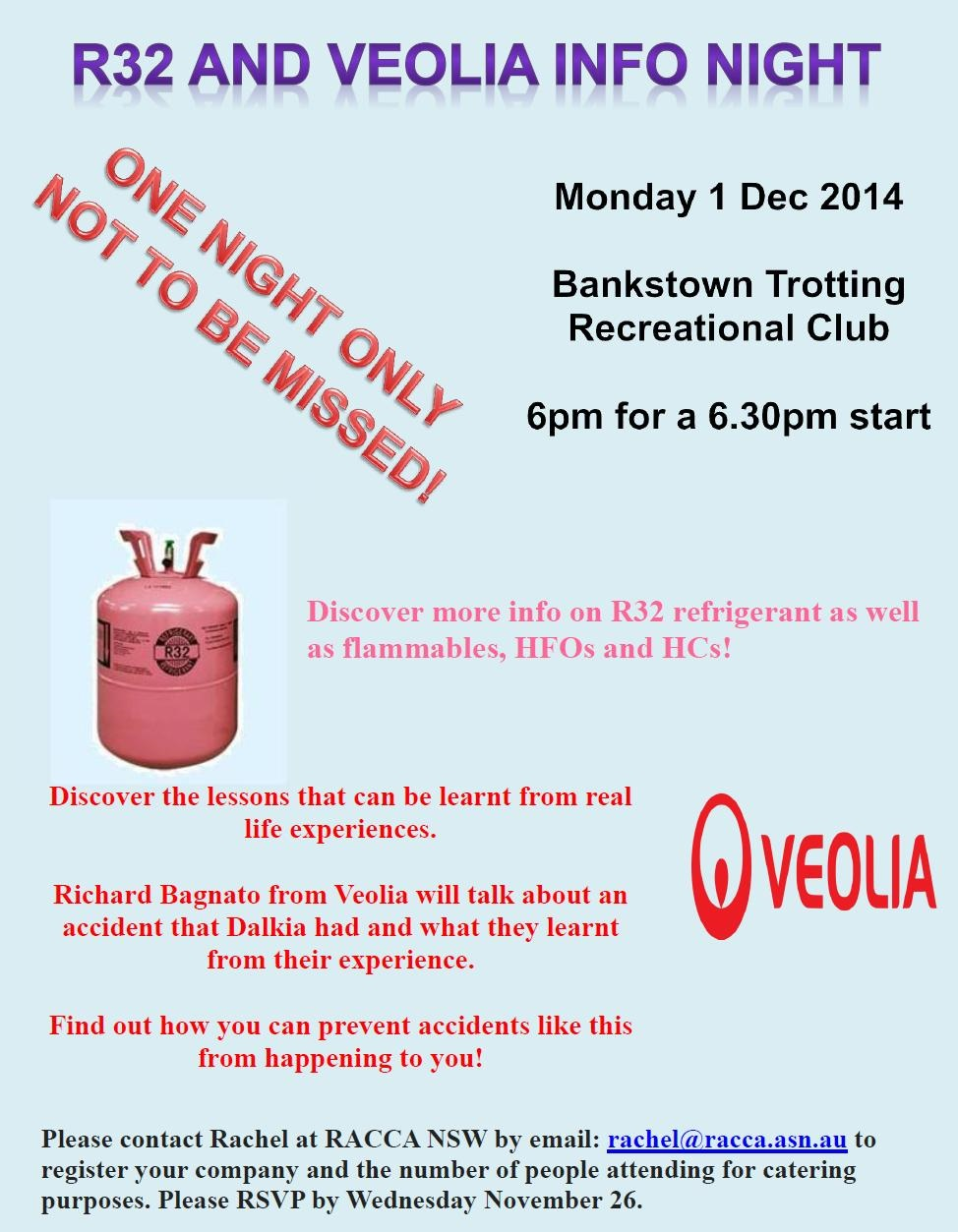 R32 and Veolia Info Night